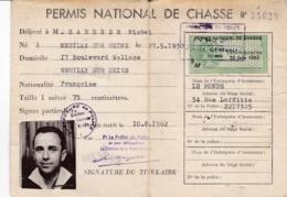 PERMIS NATIONAL DE CHASSE - Non Classificati