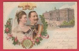 Wilhelm II Empereur & Princesse Hermine Reuss Zu Greiz - 1902 ( See Reverse ) - Historische Persönlichkeiten