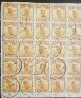 O) 1913 CHINA, ESPECTACULAR FRAGMENT - JUNK SCT 203 1c Orange, PEIPING, XF - China