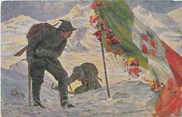 7-ALPINI-ILLUSTR.GATTI-SACRO FIORE!..TRA LE CANDIDE NEVI L'ALPINO TI FA SBOCCIARE - Guerra 1914-18