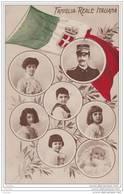 ITALIE -  ITALY - Famiglia  Reale Italiana - (médaions + Drapeau) - Case Reali