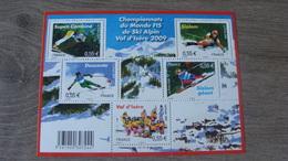 Championnats Du Monde FIS De Ski Alpin 2009 à Val D'Isère - N° F4329 (5 Timbres 4329 à 4333)  Année 2009 - Neuf** - Ungebraucht