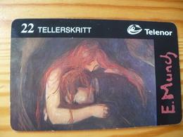 Phonecard Norway - Painting, Edvard Munch - Norway