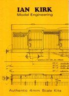 Catalogue KIRK IAN 1983 Model Engineering 4mm Scale Kits - Boeken En Tijdschriften