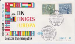 Germany  1962 FDC Europa CEPT (G62-67) - Europa-CEPT