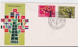 Belgium  1962 FDC Europa CEPT (G62-67) - Europa-CEPT