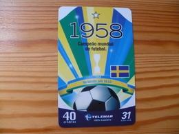 Phonecard Brazil - Football, Sweden - Brésil