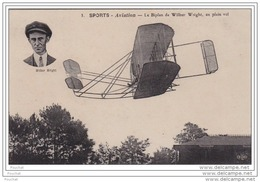 SPORTS AVIATION - Le Biplan De WILBUR  WRIGHT , En Plein Vol - Piloten