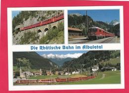 Modern Multi View Post Card Of Die Rhatische Bahn Im Albulatal,Graubünden,Switzerland,A21 - GR Graubünden