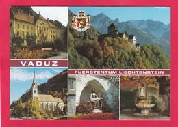 Modern Multi View Post Card Of Vaduz, Vaduz, Liechtenstein,A21 - Liechtenstein