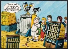 C6474 - Sönke Aller  Humor Scherzkarte - Strand Möwe Urlauber - Humour