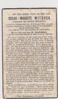 DOODSPRENTJE WITDOEK OSCAR ECHTGENOOT DECLERCQ LICHTERVELDE ROESELARE (1906 - 1944) - Images Religieuses