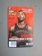 NBA2K Online Game Card, Basketball Star-Derrick Rose - Phonecards