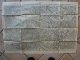 Carte Wassy 52 Haute Marne Vallentigny Arrembecourt Mertrud Rozières Morancourt Domblan Joncreuil Flornoy Magueux Blaise - Topographical Maps
