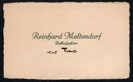 C6483 - Reinhard Meltendorf Zollinspektor - Visitenkarte - Visitenkarten