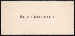 C6486 - Erich Salpeter - Visitenkarte - Visitenkarten
