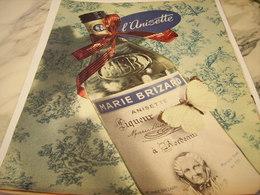 ANCIENNE PUBLICITE ANISETTE  DE MARIE BRIZARD 1956 - Alcohols