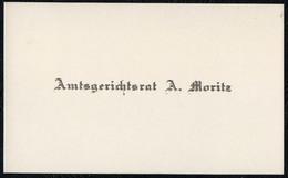 C6487 - A. Moritz Amtsgerichtsrat - Visitenkarte - Visitenkarten