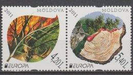 Moldavie Europa 2011 N° 652 Et 653 ** Forêts - 2011