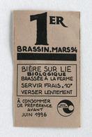 Étiquette Bière Brasserie Garland (ferme Brassicole) 81470, Algans (Beer Label) - Bière