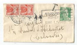 GANDON 5F N°809 SEUL MIGNONNETTE SMALL COVER PARIS 1950+ TAXE 10FR PAIRE CALVADOS - 1945-54 Marianne De Gandon