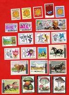 Lot De 22 Timbres 1 Bloc De 2 Timbres MONDE Neufs Xx - Stamps
