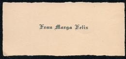 C6491 - Marga Felix - Visitenkarte - Visitenkarten