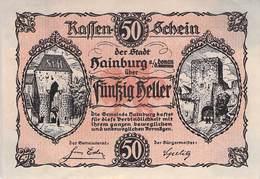 50 Hl. Notgeld Hainburg Österreich VF/F (III) - Oesterreich