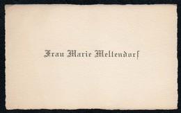 C6494 - Marie Meltendorf - Visitenkarte - Visitenkarten