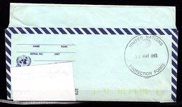 """Lettre Envoyée Par Un Militaire Vers La Belgique Oblitération """"UNITED NATIONS - PROTECTION FORGE"""" - Postmark Collection"""