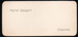C6495 - Horst Siegert - Chemnitz  - Visitenkarte - Visitenkarten