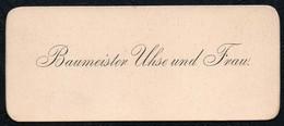 C6496 - Baumeister Uhse  - Visitenkarte - Visitenkarten
