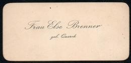C6497 - Else Brenner Geb. Quarck - Visitenkarte - Visitenkarten