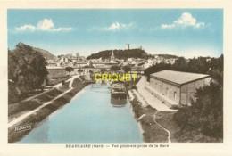 30 Beaucaire, Vue Générale Prise De La Gare, Péniche Amarrée..., Carte Pas Courante - Beaucaire