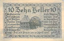 10 Hl. Notgeld Zell A.d. Pram Österreich VF/F (III) - Oesterreich