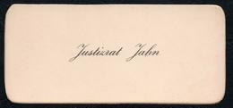 C6498 - Justizrat Jahn - Visitenkarte - Visitenkarten