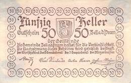 50 Hl. Notgeld Zell A.d. Pram Österreich VF/F (III) - Oesterreich