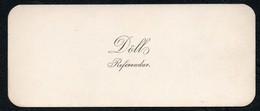 C6499 - Dölls Referendar - Visitenkarte - Visitenkarten