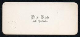 C6501 - Else Beck Geb. Holbein - Visitenkarte - Visitenkarten