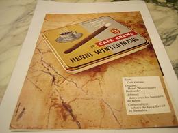 ANCIENNE PUBLICITE CAFE CREME CIGARE  HENRI WINTERMANS 1977 - Raucherutensilien (ausser Tabak)