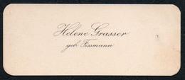 C6502 - Helene Grasser Geb. Fissmann - Visitenkarte - Visitenkarten