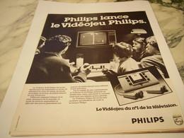 ANCIENNE PUBLICITE VIDEOJEU DE  PHILIPS 1977 - Advertising
