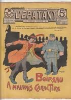 Rare Revue L'épatant 11 Aout 1910 Avec Bd Des Pieds Nickelés - Otras Revistas