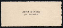 C6506 - Herta Stenkel Geb Probenius - Visitenkarte - Visitenkarten
