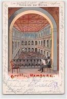 39124701 - Lithographie Hamburg. Inneres Der Boerse Gelaufen. Ecken Mit Albumabdruecken, Leichte Abschuerfungen, Sonst - Ohne Zuordnung