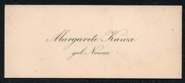 C6508 - Margarete Kunze Geb. Nonne - Visitenkarte - Visitenkarten