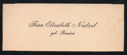 C6509 - Elisabeth Noetzel Geb. Bondzio - Visitenkarte - Visitenkarten