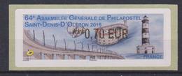 Vignette 64è Assemblée Générale De Philapostel Saint Denis D'Oléron (phare Pont Fort Boyard) 0.70 € - 2010-... Vignette Illustrate