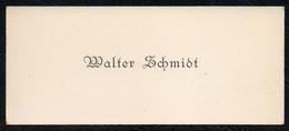 C6510 - Walter Schmidt - Visitenkarte - Visitenkarten
