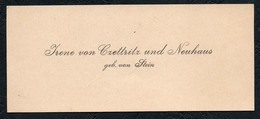 C6511 - Irene Von Czettritz Und Neuhaus Geb. Von Stein - Visitenkarte - Visitenkarten
